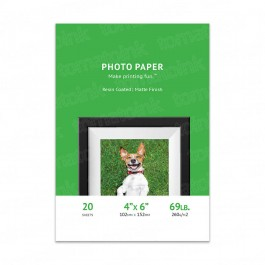 Premium 4x6 Matte Inkjet Photo Paper - 20 sheet