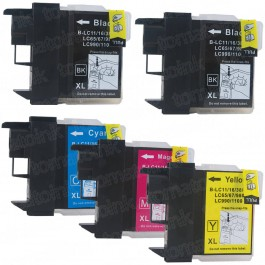 Brother LC61 Black & Color 5-pack Ink Cartridges