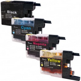 Brother LC79 Black & Color 4-pack Super High Yield Ink Cartridges
