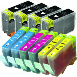 Canon BCI-3eBK & BCI-6 Black & Color 10-pack Ink Cartridges