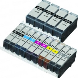 Canon PGI-220 & CLI-221 Black & Color 14-pack Ink Cartridges