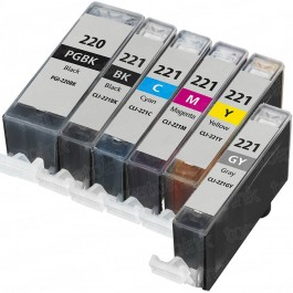 Canon PGI-220 & CLI-221 Black & Color 6-pack Ink Cartridges