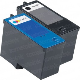 Dell (Series 9) MK992 Black & MK993 Color 2-pack Ink Cartridges