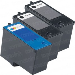 Dell (Series 9) MK992 Black & MK993 Color 3-pack Ink Cartridges