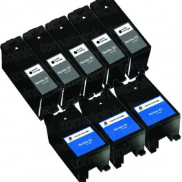 Dell (Series 22) T091N Black & T092N Color 8-pack Ink Cartridges