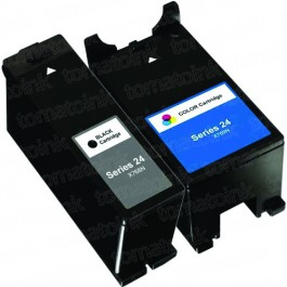Dell (Series 24) T109N Black & T110N Color 2-pack Ink Cartridges