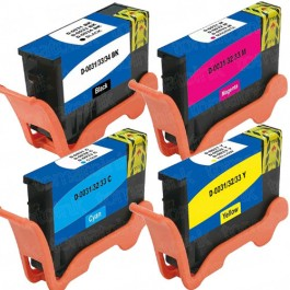 Dell (Series 33 & 34) 4-pack Extra High Yield Ink Cartridges