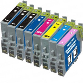 Epson 48 T048 Black & Color 8-pack Ink Cartridges