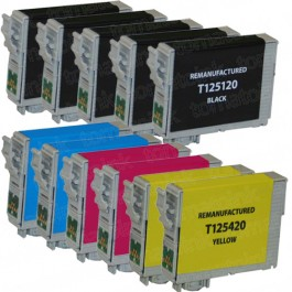 Epson 125 T125 Black & Color 11-pack Ink Cartridges