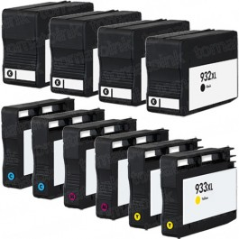 HP 932XL & 933XL Black & Color 10-pack High Yield Ink Cartridges