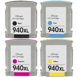 HP 940XL Black & Color 4-pack High Yield Ink Cartridges
