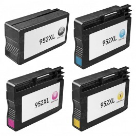 HP 952XL Black & Color 4-pack High Yield Ink Cartridges