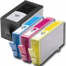 HP 920XL Black & Color 4-pack High Yield Ink Cartridges