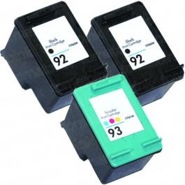 HP 92 Black & HP 93 Color 3-pack Ink Cartridges