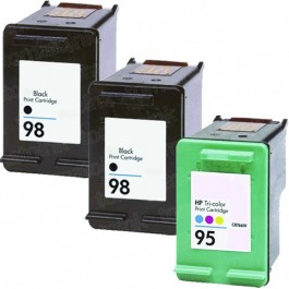 HP 98 Black & HP 95 Color 3-pack Ink Cartridges