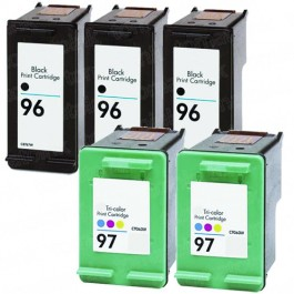 HP 96 Black & HP 97 Color 5-pack Ink Cartridges