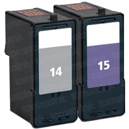 Lexmark #14 Black & #15 Color 2-pack Ink Cartridges