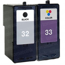 Lexmark #32 Black & #33 Color 2-pack Ink Cartridges