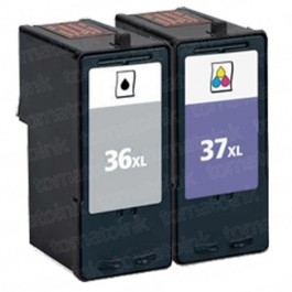 Lexmark #36XL Black & #37XL Color 2-pack HY Ink Cartridges