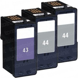 Lexmark #44XL Black & #43XL Color 3-pack HY Ink Cartridges