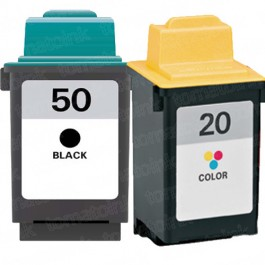 Lexmark #50 Black & #20 Color 2-pack Ink Cartridges