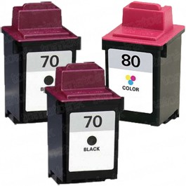 Lexmark #70 Black & #80 Color 3-pack Ink Cartridges