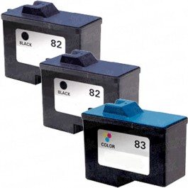 Lexmark #82 Black & #83 Color 3-pack Ink Cartridges