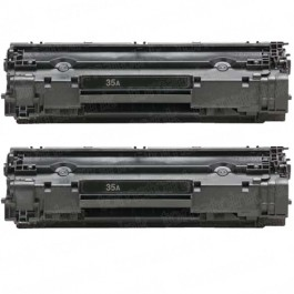 HP 35A (CB435A) 2-pack Black Toner Cartridges