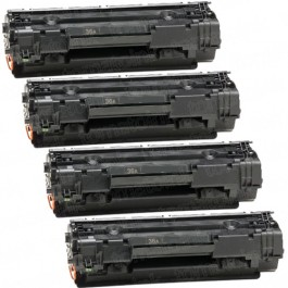 HP 36A (CB436A) 4-pack Black Toner Cartridges