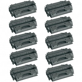 HP 05X (CE505X) 10-pack High Yield Black Toner Cartridges