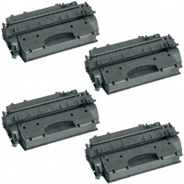 HP 05X (CE505X) 4-pack High Yield Black Toner Cartridges