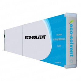 Mutoh VJMSINK3C Eco-Ultra Cyan Ink Cartridge