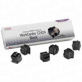 Xerox 108R00664 / WorkCentre C2424 OEM Black Ink 6-pack Cartridge