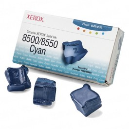 Xerox 108R00669 / Phaser 8500 OEM Cyan Solid Ink 3-pack Cartridge