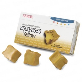 Xerox 108R00671 / Phaser 8500 OEM Yellow Ink 3-pack Cartridge