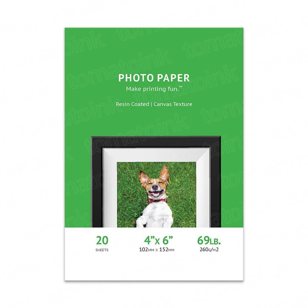 Premium 4x6 Canvas Inkjet Photo Paper - 20 sheet