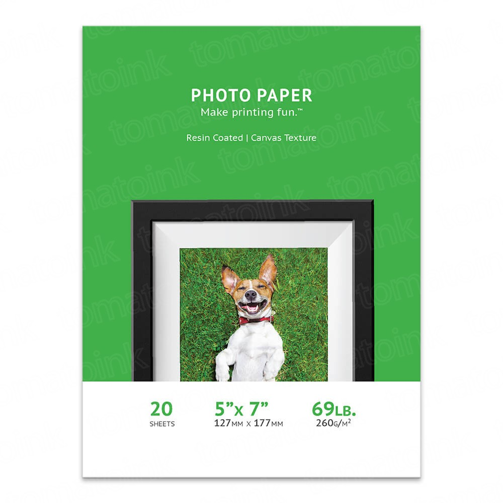 Premium 5 x 7 Canvas Inkjet Photo Paper - 20 sheet