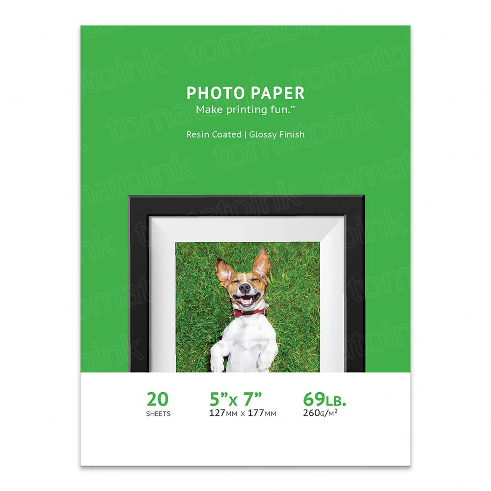 Premium 5 x 7 Glossy Inkjet Photo Paper - 20 sheet