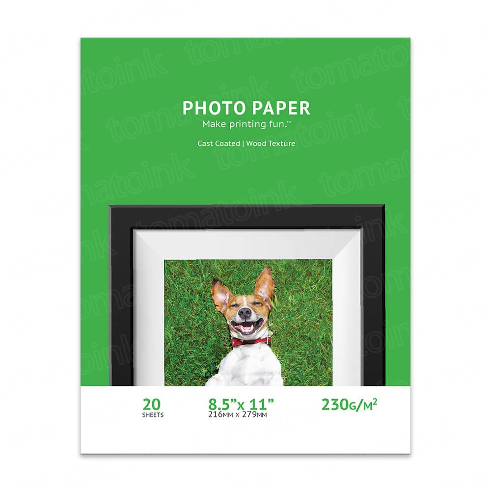 8.5 x 11 Wood Textured Glossy Inkjet Photo Paper