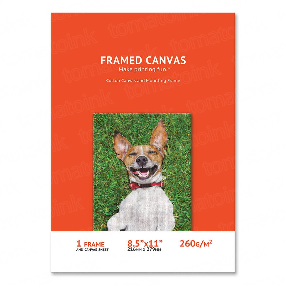 8.5 x 11 Cotton Canvas Sheet and Canvas Frame