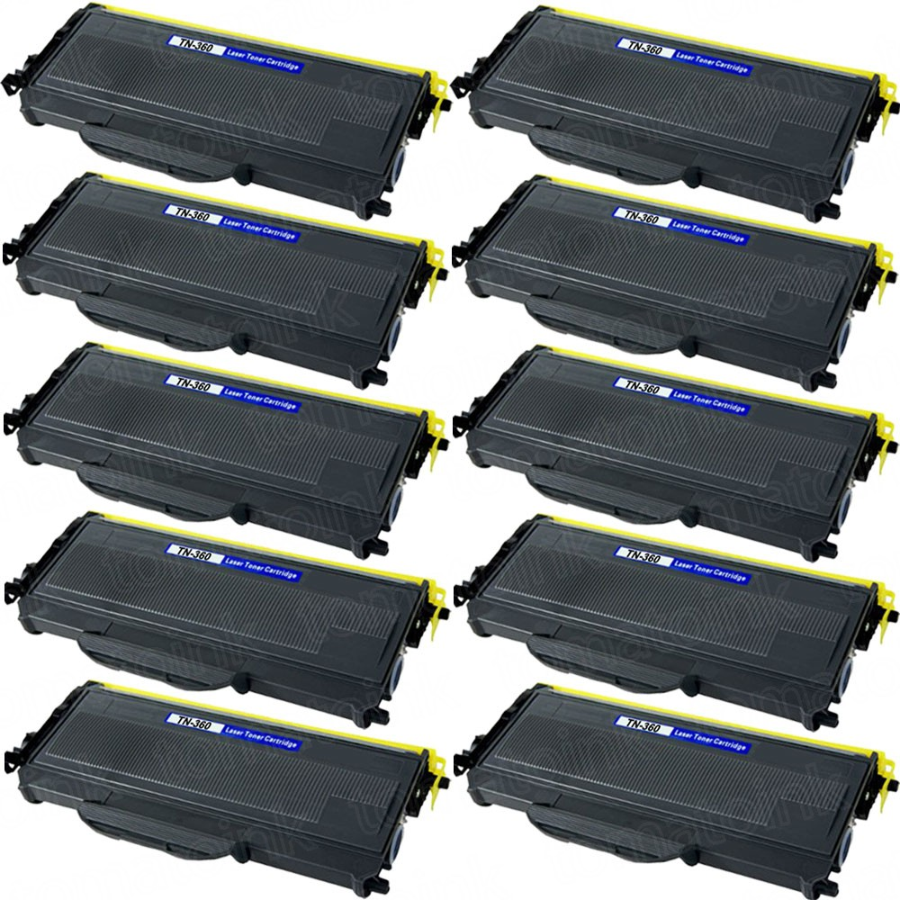 Brother TN360 (10-pack) High Yield Black Toner Cartridges