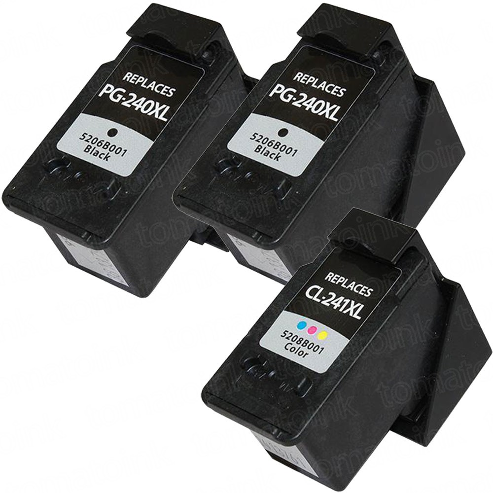 Canon PG-240XL Black & CL-241XL Color 3-pack High Yield Ink Cartridges