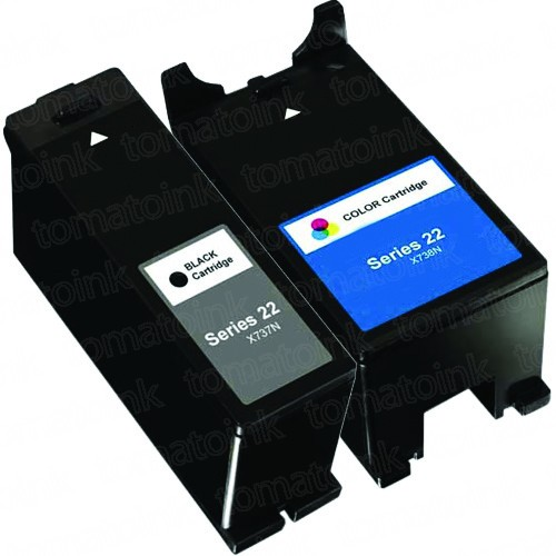 Dell (Series 22) T091N Black & T092N Color 2-pack Ink Cartridges