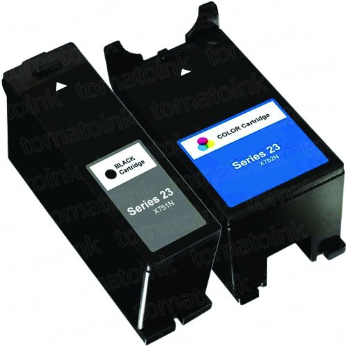 Dell (Series 23) T105N Black & T106N Color 2-pack Ink Cartridges