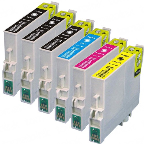 Epson 60 T060 Black & Color 6-pack Ink Cartridges
