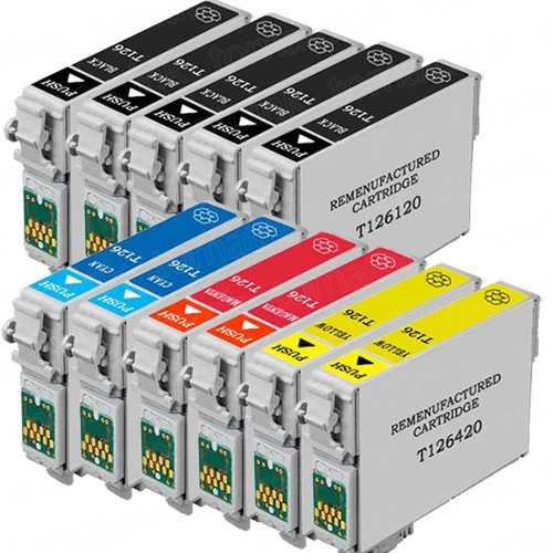 Epson 126 T126 Black & Color 11-pack High Yield Ink Cartridges