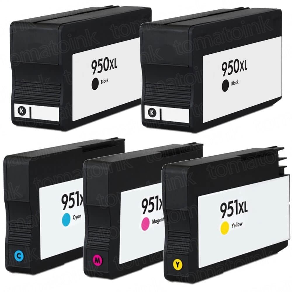 HP 950XL & 951XL Black & Color 5-pack High Yield Ink Cartridges