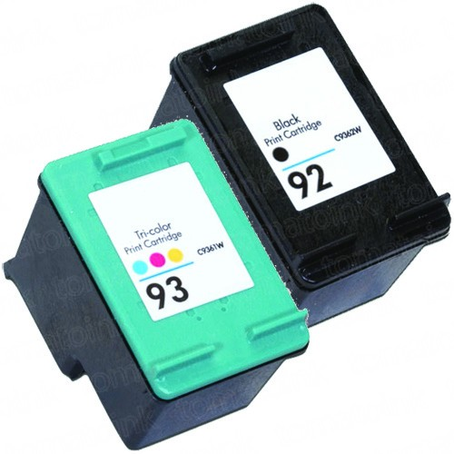 HP 92 Black & HP 93 Color 2-pack Ink Cartridges