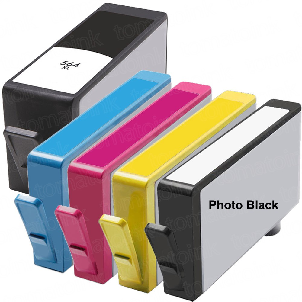 HP 564XL Black & Color 5-pack High Yield Ink Cartridges