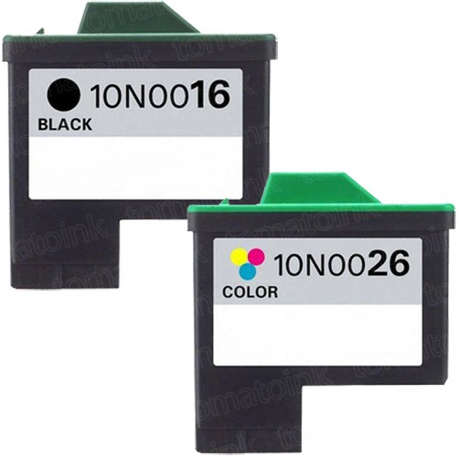 Lexmark #16 Black & #26 Color 2-pack Ink Cartridges